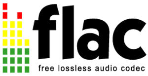 FLAC logo inverted
